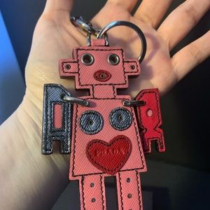 Prada Robot Key Holder Bag Charm